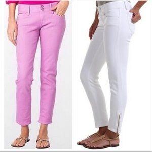 Worth Skinny Mini Zip Jeans (Pink)